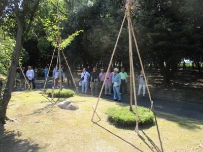 番の州公園に日本植木協会の皆様が視察に来ました