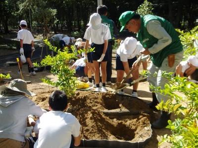 「香りと学びの番の州公園」植栽イベント開催